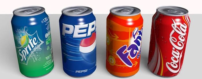 Sprite, Pepsi, Fanta y Coca Cola